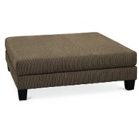 Contemporary Dark Gray Cocktail Ottoman - Laguna