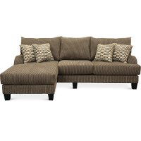 Casual Contemporary Gray Sofa-Chaise - Laguna