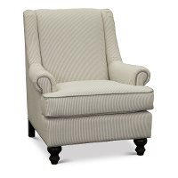 Casual Classic Taupe Stripe Accent Chair
