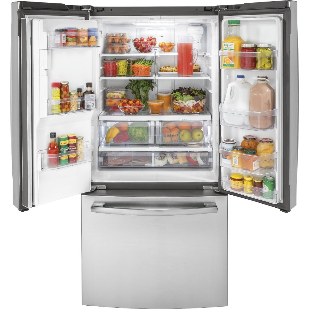 GE Counter Depth French Door Refrigerator   33 Inch Stainless Steel | RC  Willey Furniture Store