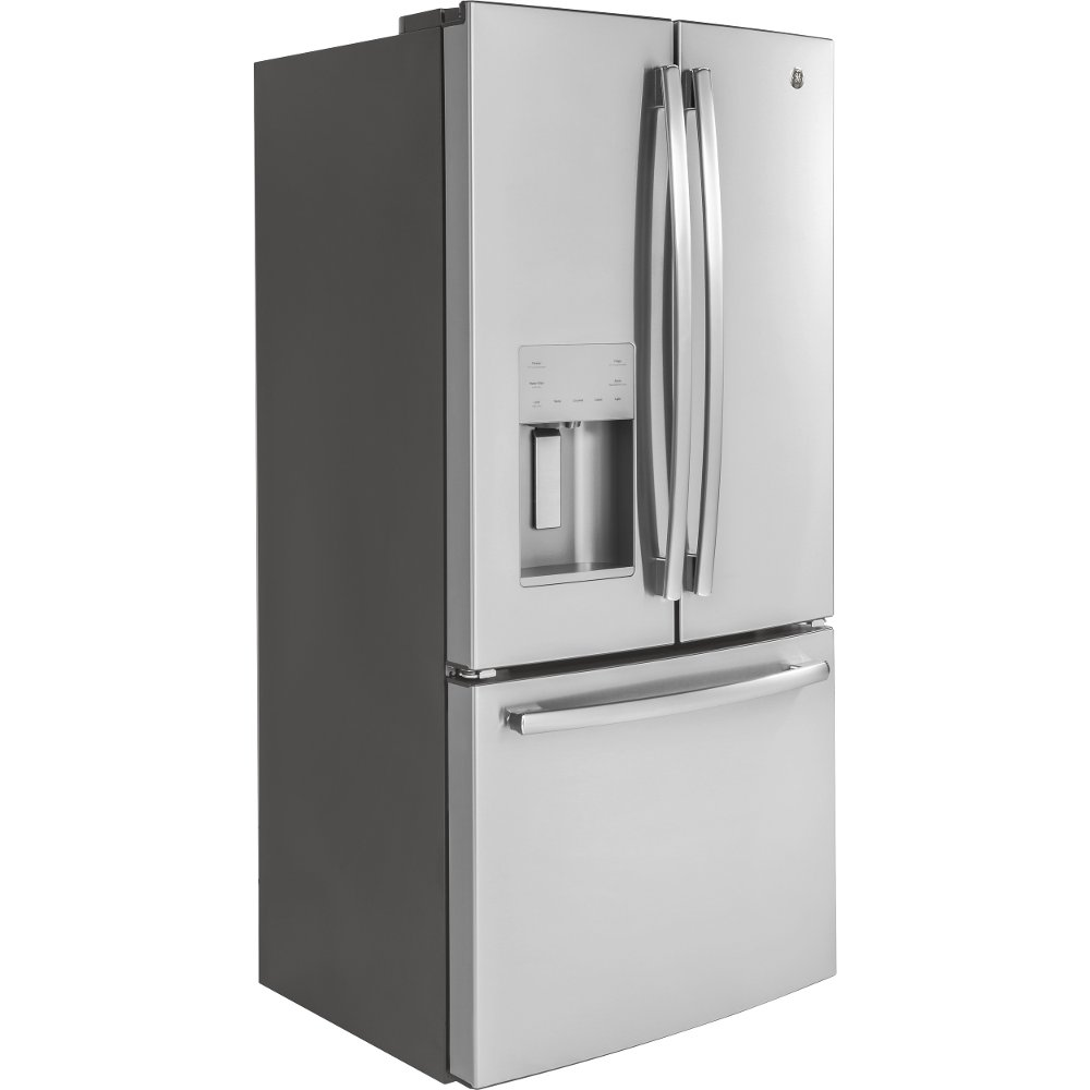 Ge French Door Refrigerator 33 Inch Counter Depth Stainless Steel