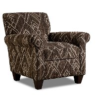 Casual Southwestern Java Brown Accent Chair - Alton