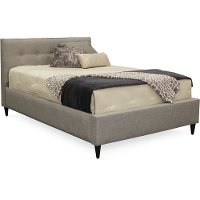 Contemporary Smoke Gray Queen Upholstered Bed - Conversation