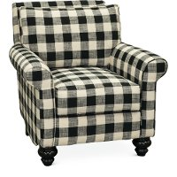 Black and White Buffalo Plaid Accent Chair - Blake