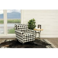 Black And White Buffalo Plaid Accent Chair Blake Rc Willey