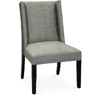 Graphite Gray Parsons Wing Upholstered Dining Chair