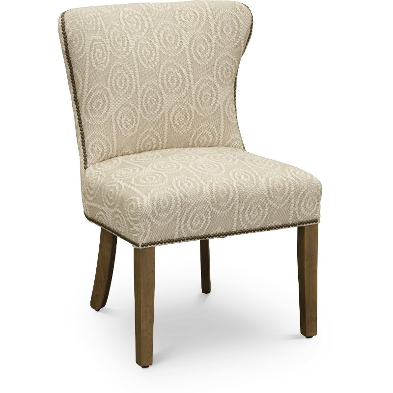 Tan Parsons Wing Upholstered Dining Chair