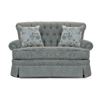 Gray Blue Settee Glider with 2 Throw Pillows - Fernwood