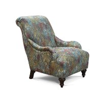 Traditional Multi Watercolor Accent Chair - Kelsey
