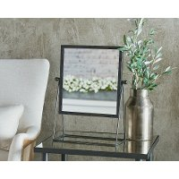 Magnolia Home Furniture Black Metal Framed Makeup Mirror