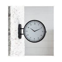 Magnolia Home Furniture Black Metal 2-Sided Wall Clock