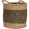 Magnolia Home Furniture 11 Inch Two Tone Sea Grass Basket