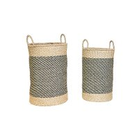 Magnolia Home Furniture 19 Inch Two Toned Sea Grass Basket