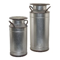 15 Inch Tall Metal Canister with Handles