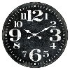 28 Inch Black Wooden Wall Clock