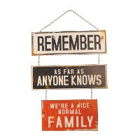 Normal Family Metal Wall Sign
