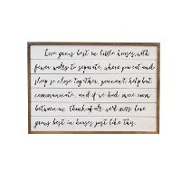 Wooden Black and White Love Grows Wall Sign