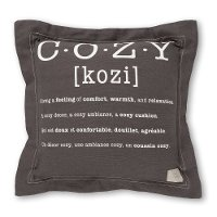 100243 Gray Cozy Definition Throw Pillow - Lodge