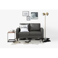 100297 Charcoal Gray Loveseat - Live-it Cozy