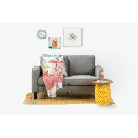 100300 Fog Gray  Loveseat - Live-it Cozy