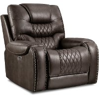 Charcoal Gray Power Recliner - Desert