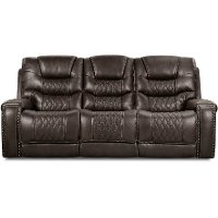 Charcoal Gray Power Sofa - Desert