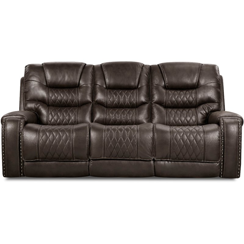 ... Charcoal Gray Power Sofa   Desert
