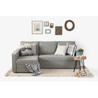 100308 Fog Gray Chaise Sofa Bed - Live-it Cozy