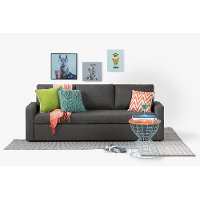 100310 Charcoal Gray Sofa-Bed - Live-it Cozy