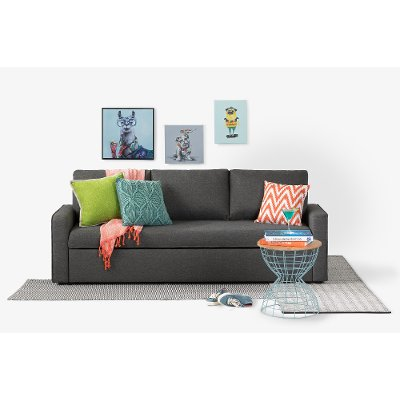 100310 Charcoal Gray Sofa Bed   Live It Cozy
