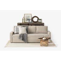 100312 Oatmeal Beige Sofa Bed - Live-it Cozy