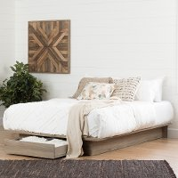 11312 Rustic Oak Full-Queen Platform Bed - Primo