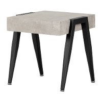 11416 Concrete Gray and Black End Table - City Life