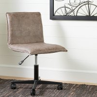 100273 Antique Light Brown Mid-Back Office Chair - Munich