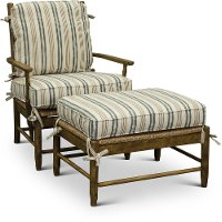 ... Cream Tan And Blue Striped Accent Chair   Riverbank 2