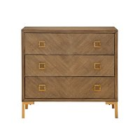 Wheaton Brown 3 Drawer Chest with AC and USB Ports