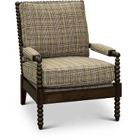 Tan Accent Chair with Multi-Color Stripes - Rocco