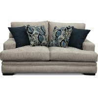 Casual Contemporary Silver Gray Loveseat - Piccolo