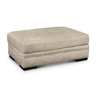 Casual Contemporary Silver Gray Ottoman - Piccolo