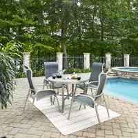 5-Piece Round Outdoor Patio Dining Set - South Beach