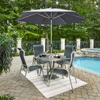 7-Piece Round Outdoor Patio Dining Set - South Beach