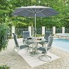 7 Piece Round Outdoor Patio Dining Set - South Beach