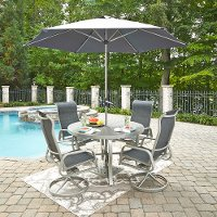 7 Piece Outdoor Patio Dining Table Set - South Beach