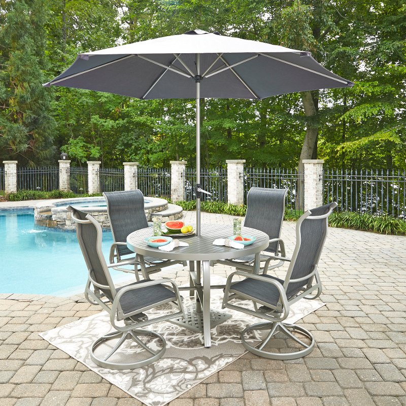 7 Piece Outdoor Patio Dining Table Set South Beach