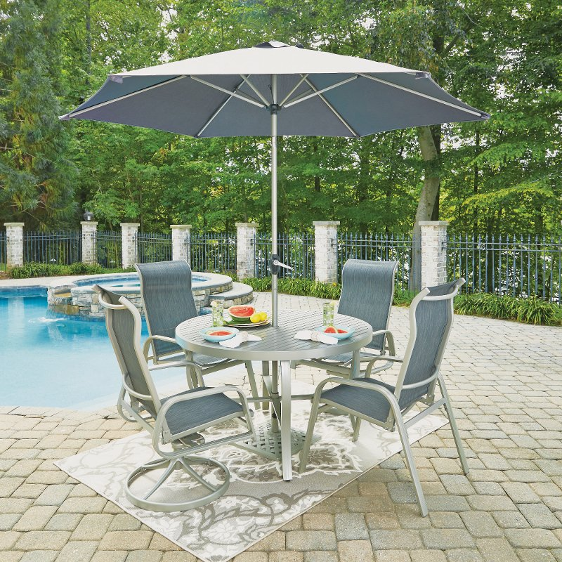 Piece Round Outdoor Patio Dining Set South Beach RC Willey - 7 piece outdoor dining set round table
