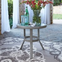 Gray Aluminum Accent Table - South Beach