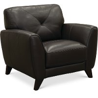 Modern Dark Brown Leather Chair - Colours