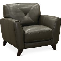 Modern Dark Gray Leather Chair - Colours