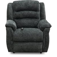 Charcoal Gray Reclining Power Lift Chair - Max