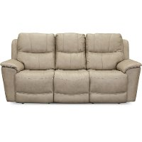 Tan Leather-Match Power Reclining Sofa - Cade